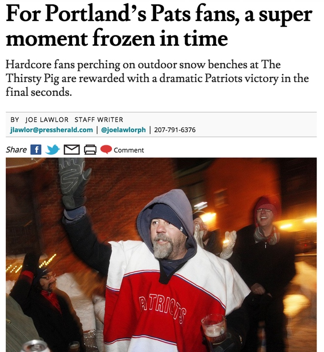 For Portland's Pats fans, a super moment frozen in time