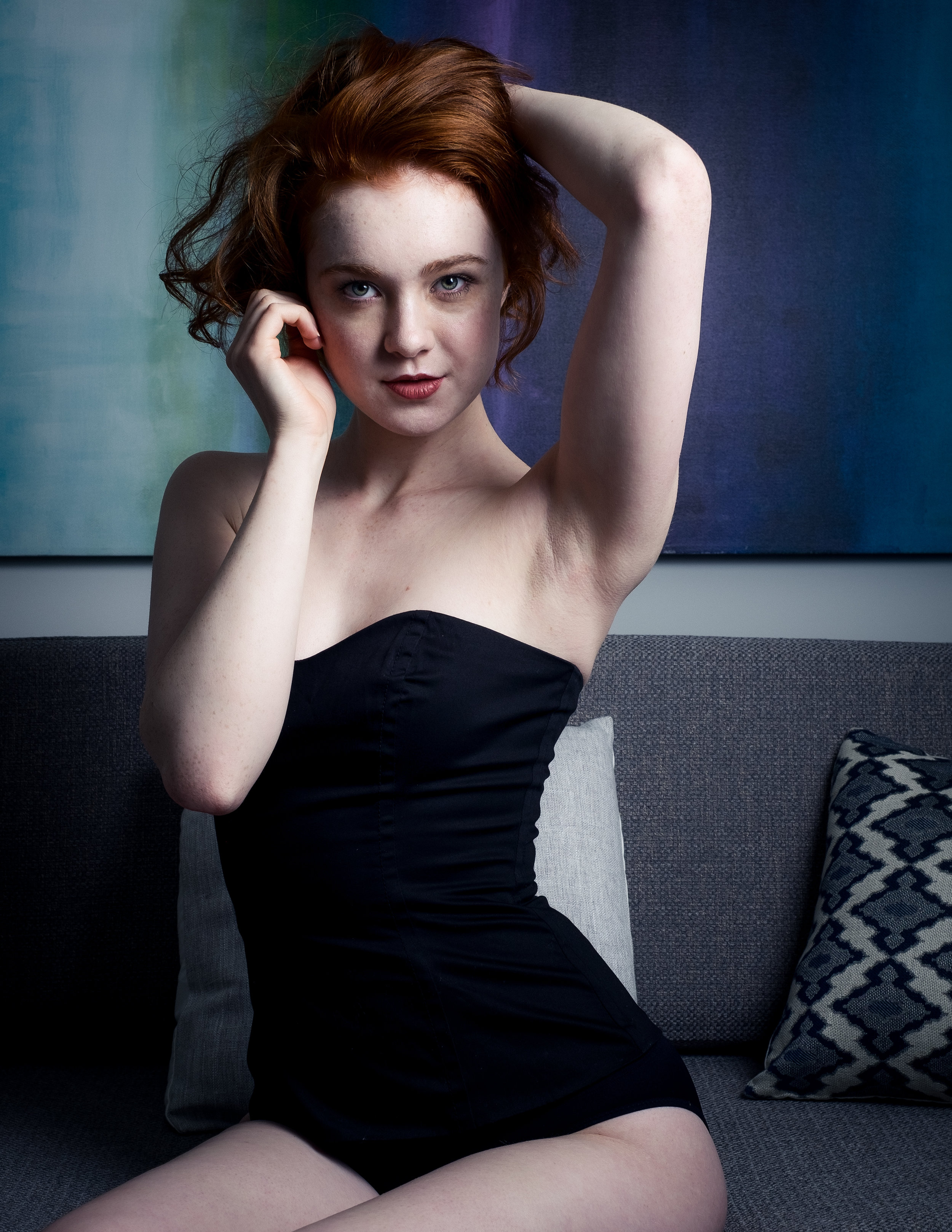 Model Rachel MUAH: Michael Fels Stylist: Sarah D'Arcey