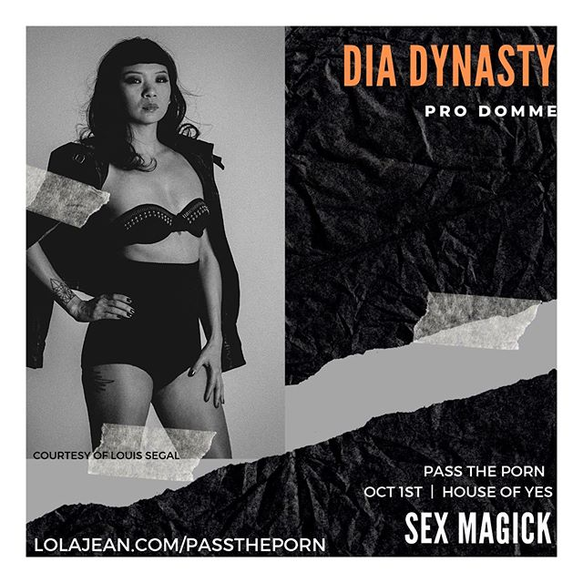 Let's talk about Sex! This event will center in how sex and magick can be used to create change in your life. Produced by @lolajeandotcom and @houseofyesnyc join panelists @thebowiecat @sabbyshow @personisawake and myself @dia__dynasty in a discussion about sex magick! . . Tix: bit.ly/ptpsexmagick . . #sexmagick #sexualhealth #sexualwellness #spookyporn #rituals #channeling #fearplay #houseofyesnyc #paneltalk #smut #darkmoods #saferspace #sexuality #passtheporn