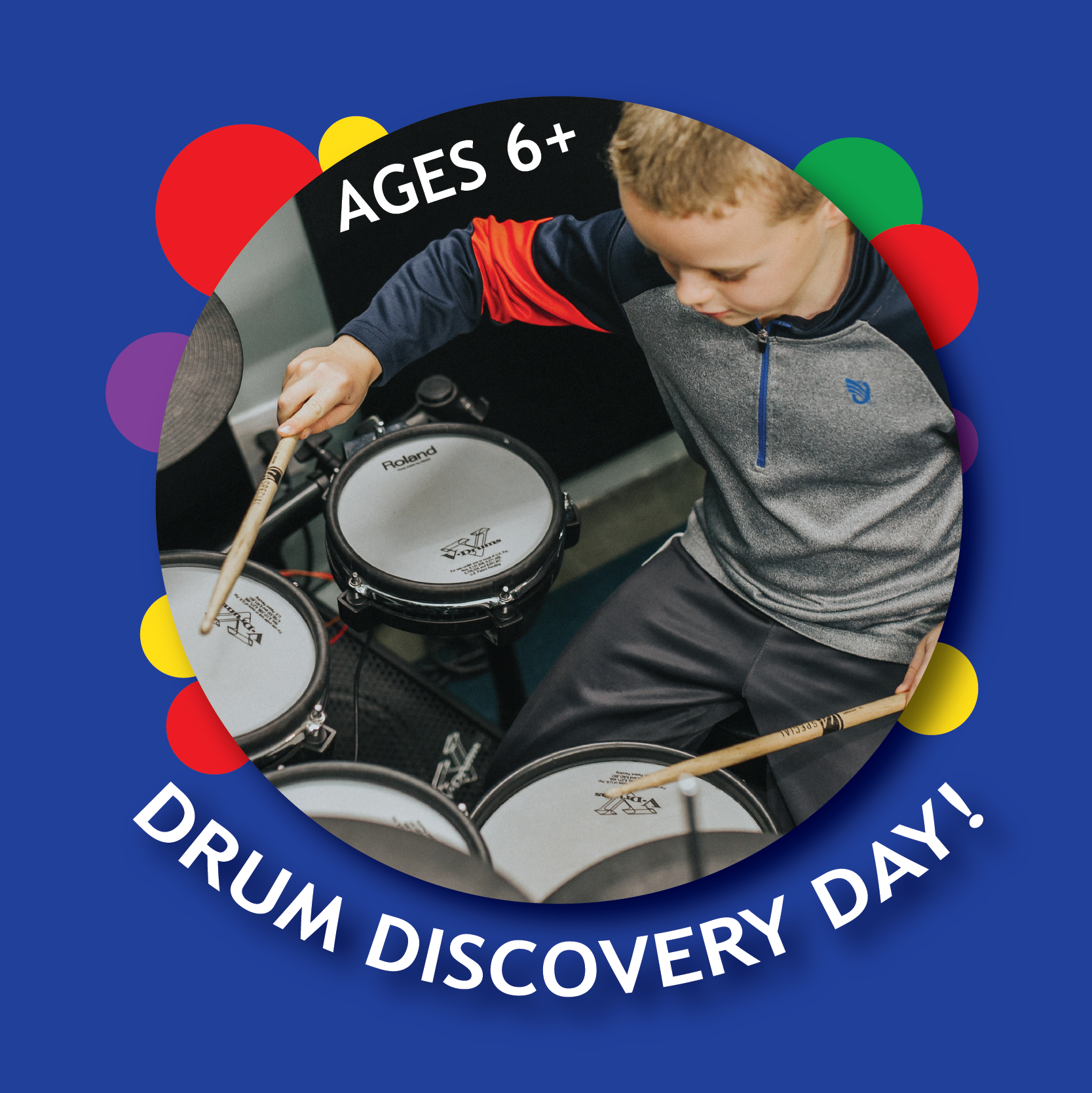 Drum Discover Day is a great way to see if drum lessons are for you or your child! All are welcome!