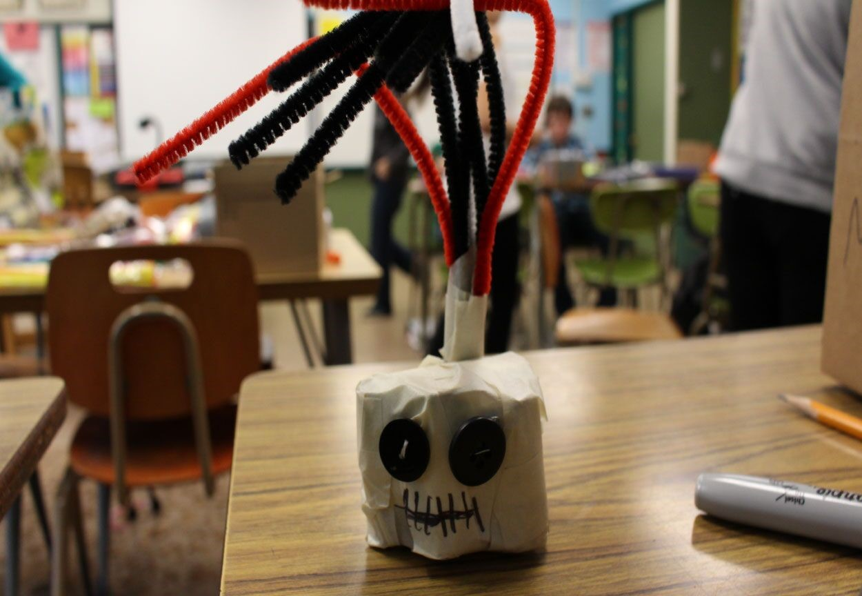 Hamlin Middle School student example of their anxiety monster.