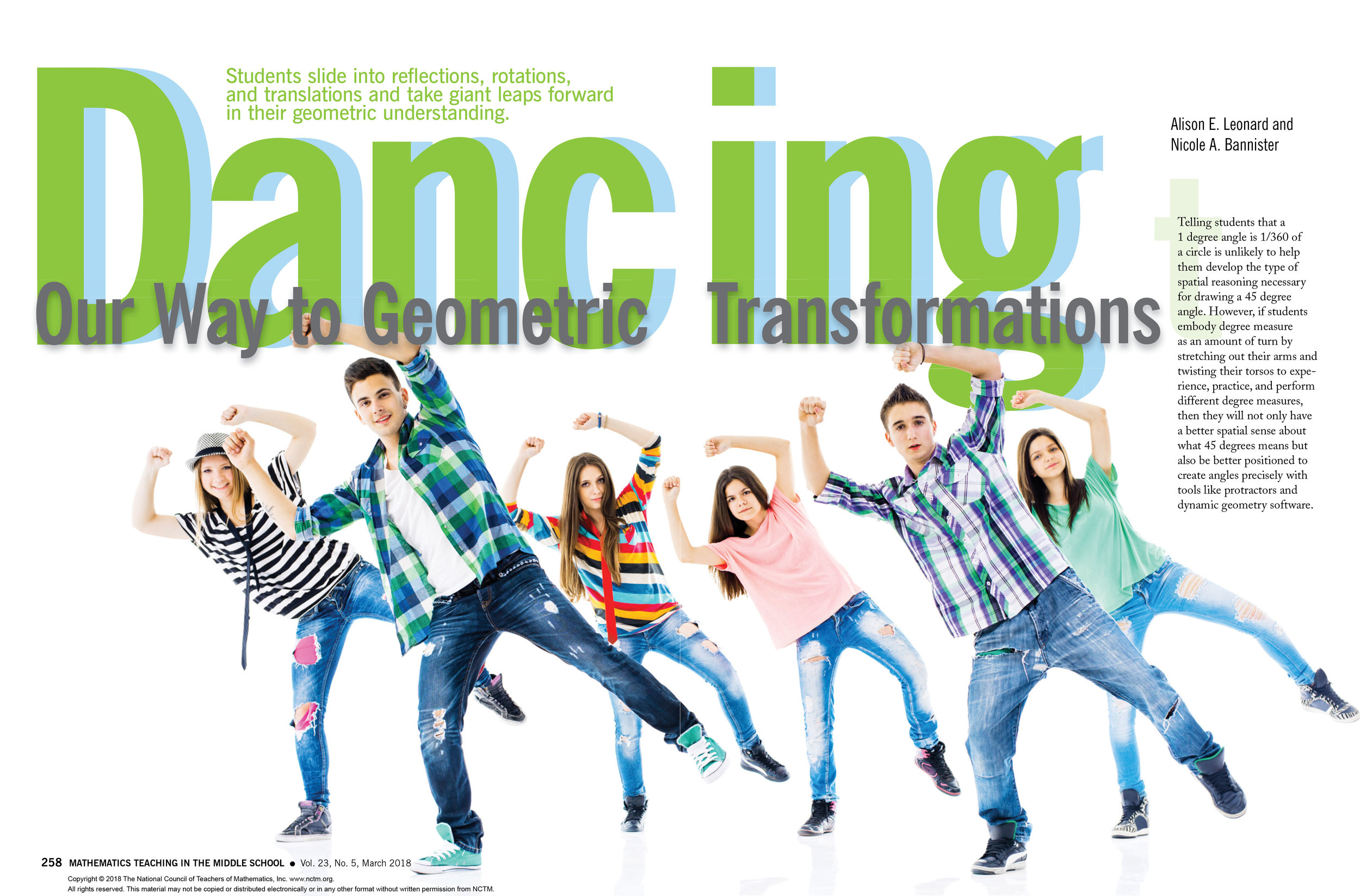 Dance and Transformations, Leonard and Bannister, 2018
