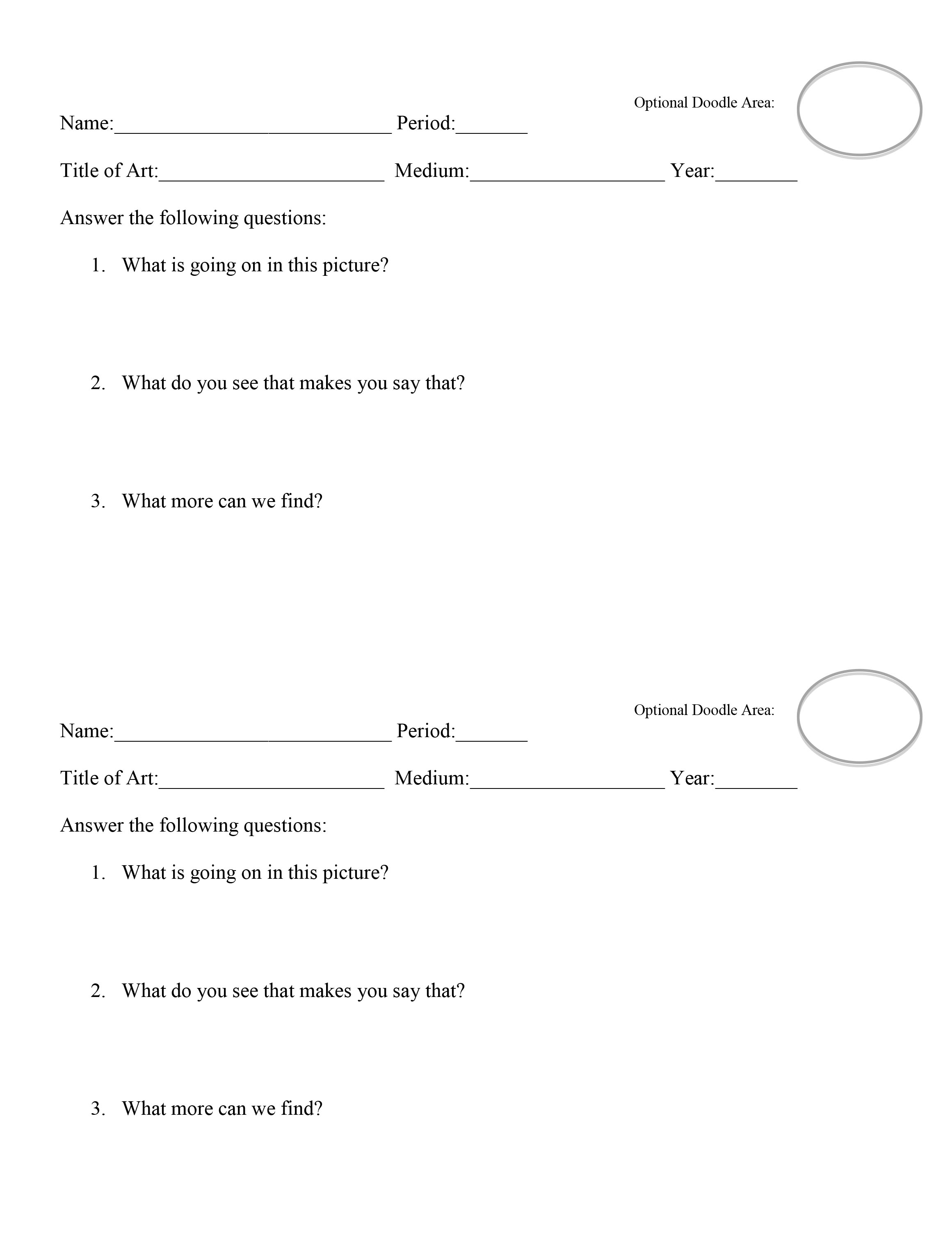VTS Worksheet