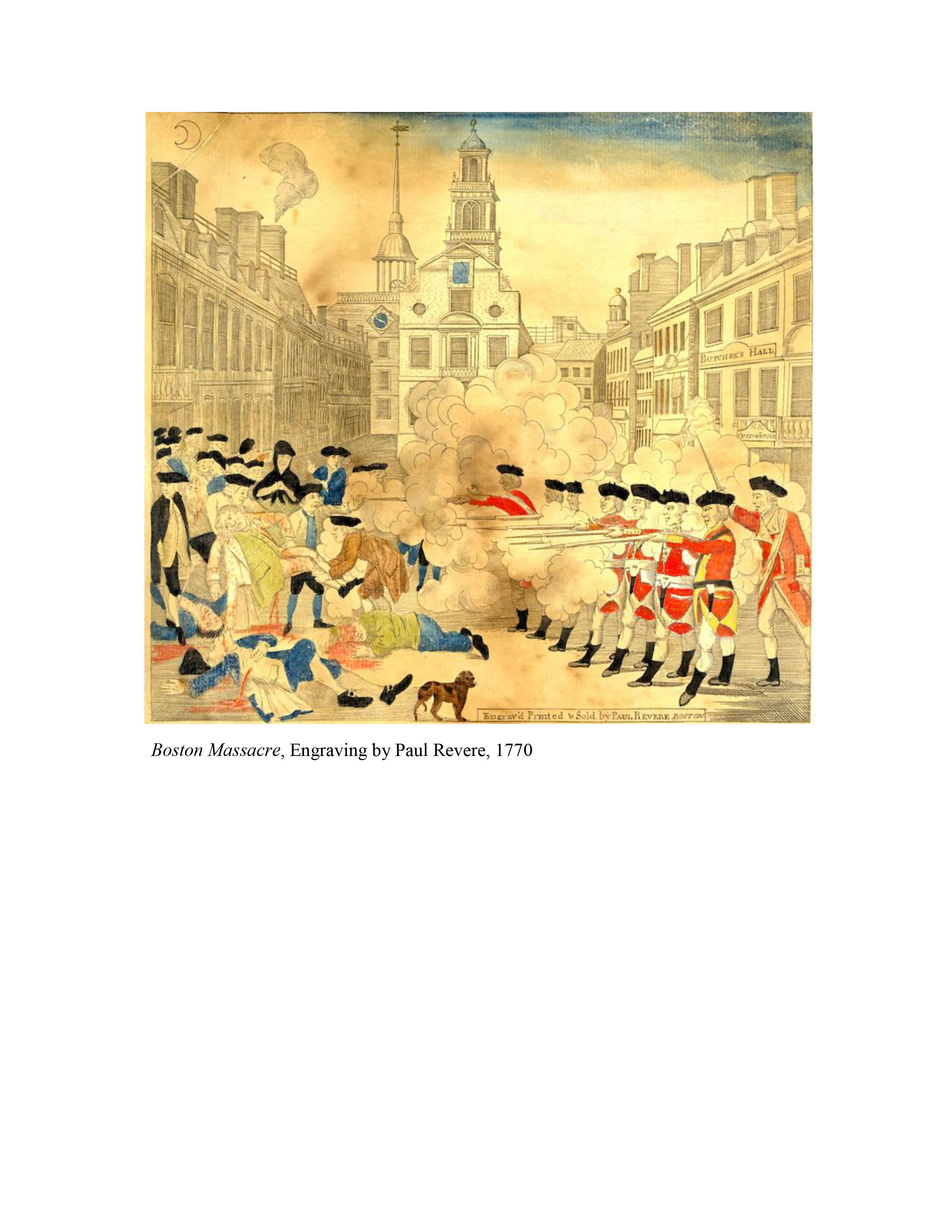 Boston Massacre Paul Revere