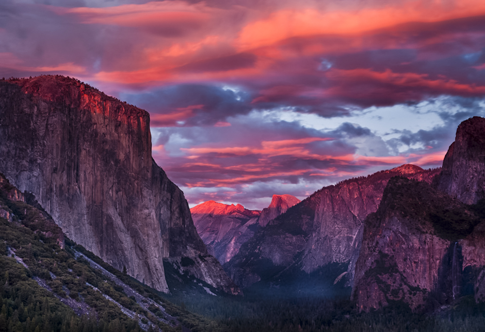 Sunset Yosemite