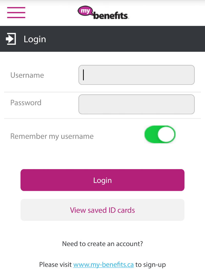 Login, submit claims online