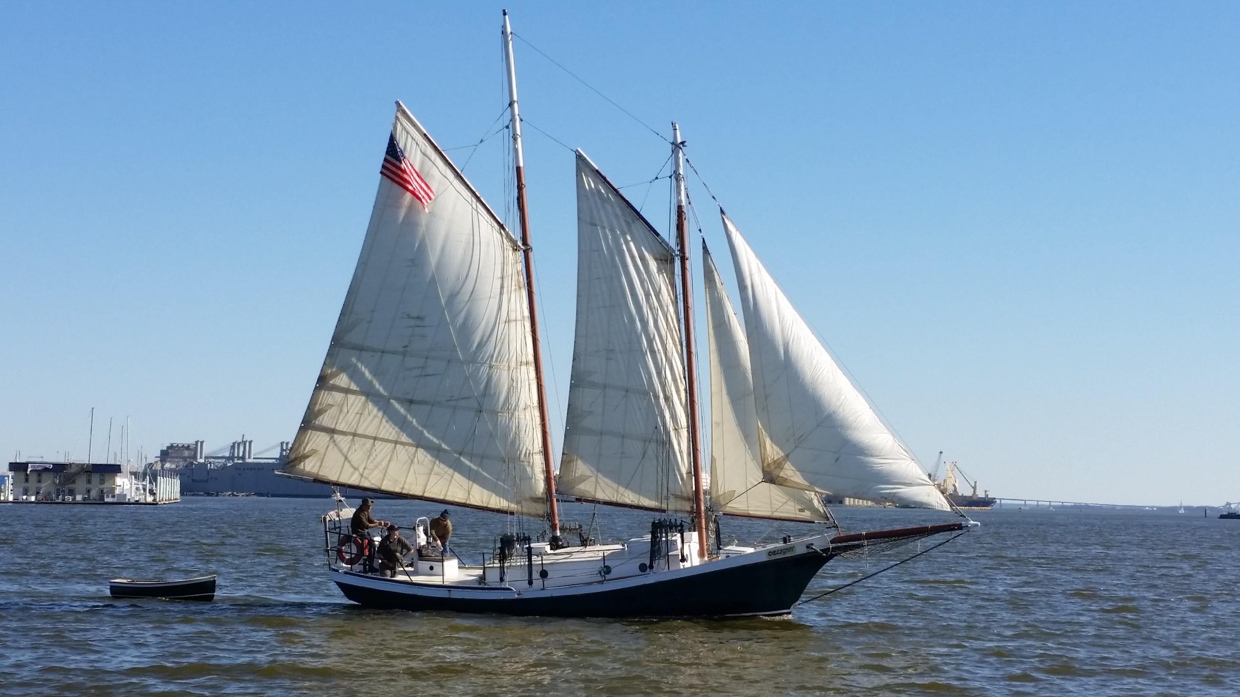 Sailing a Tom Colvin Gaff Rigged Schooner — Rigging Doctor