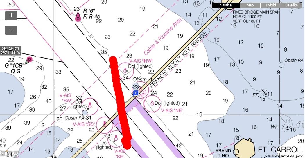 Scott Key 1100 feet wide