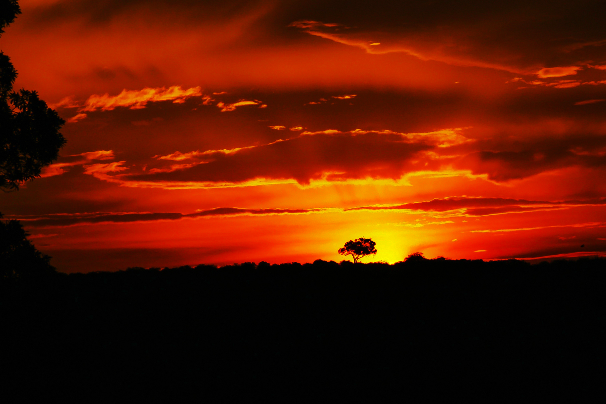 Sunset on the Mara in Kenya