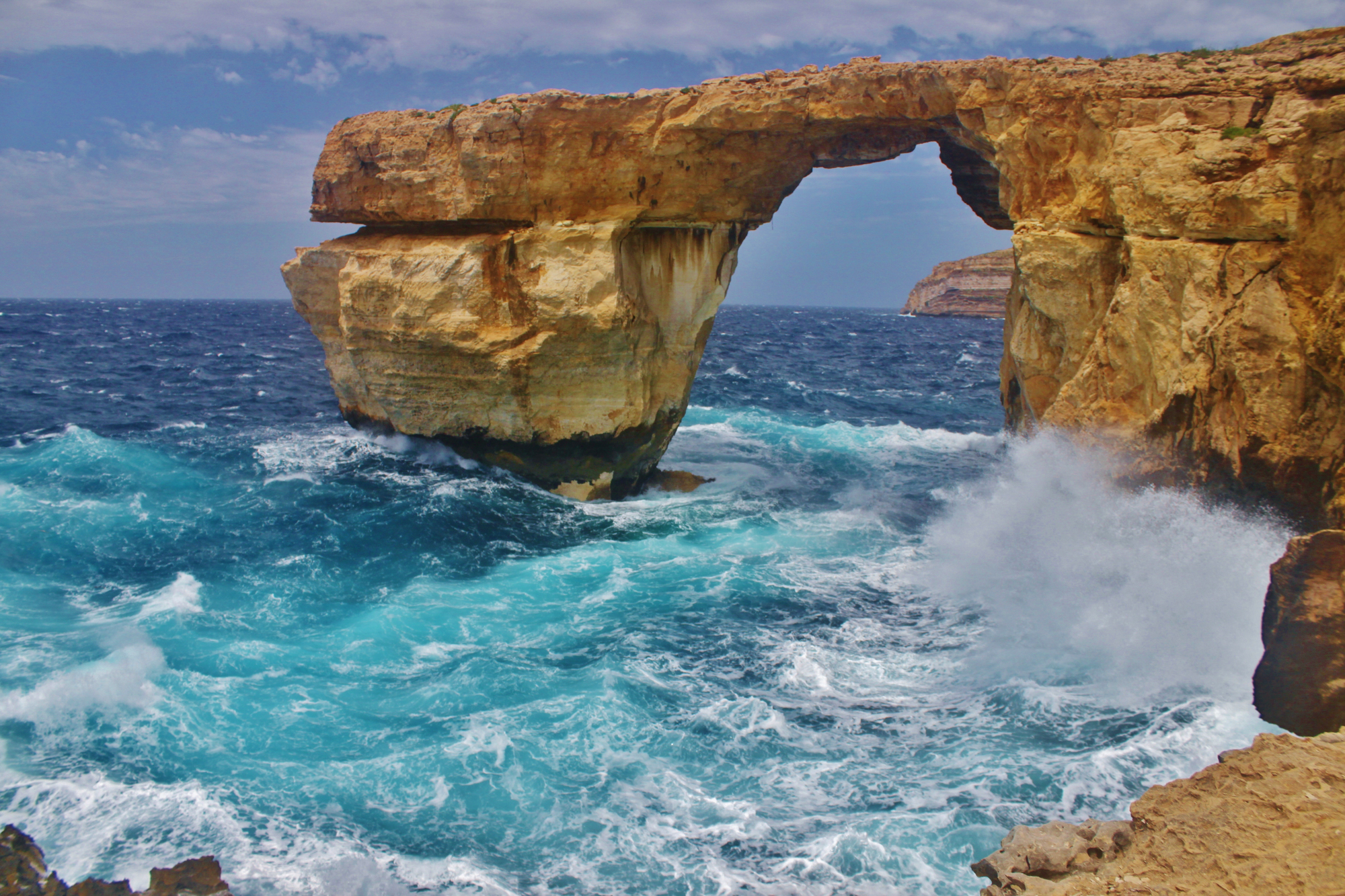 The Azure Window of Gozo Malta