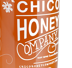 honey screen printed label
