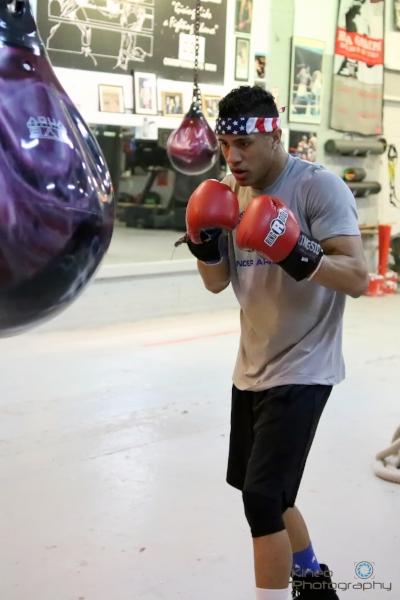 Josniel Castro training at Portland Boxing Club on March 9, 2017.  Photo courtesy Kineo Photography.