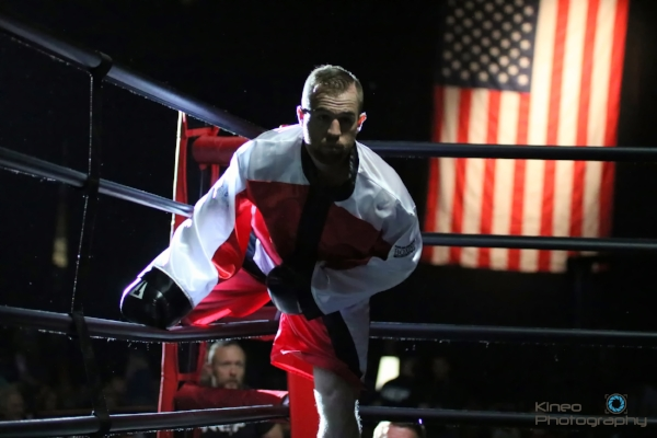 """Jason """"The Fighting Fireman"""" Quirk (6-0, 4 KO) at the Androscoggin Bank Colisee on June 17. Quirk returns to the ring in Skowhegan on July 29."""