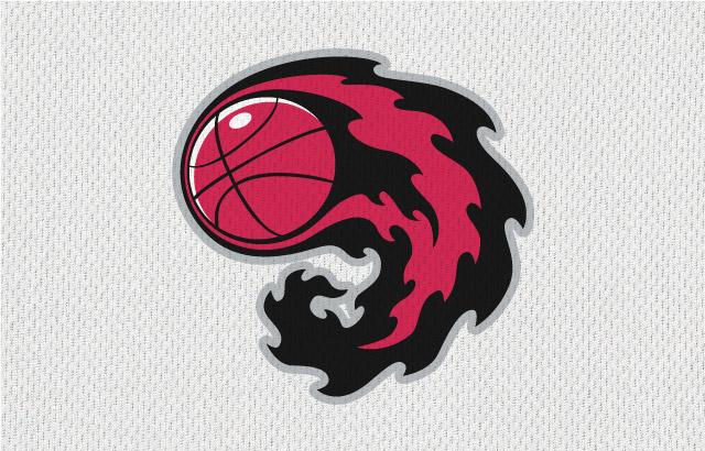 NBA-Style Sports Logo Flames