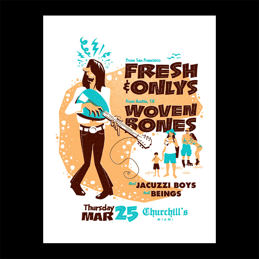 Fresh and Onlys Punk Silkscreen Poster