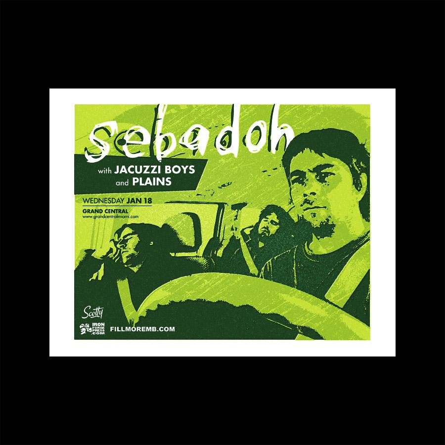 Sebadoh Silkscreened Gig Poster Miami