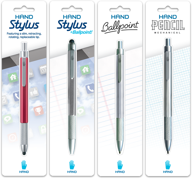 Hand Stylus Writing Instruments Packaging