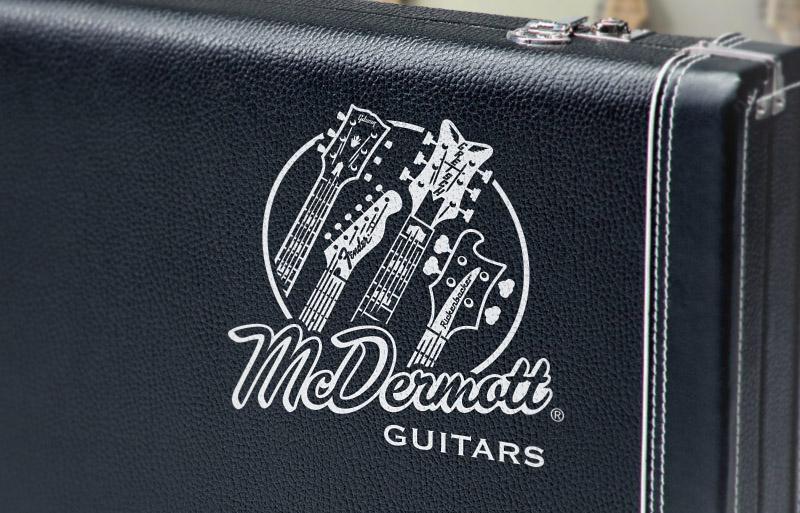 McDermott Guitars Logo on Guitar Case