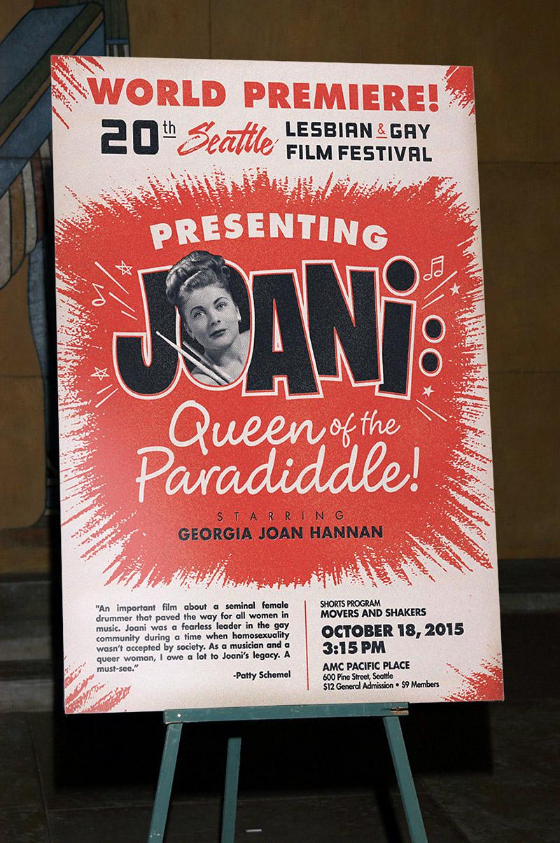 Joani retro rock and rock movie poster design