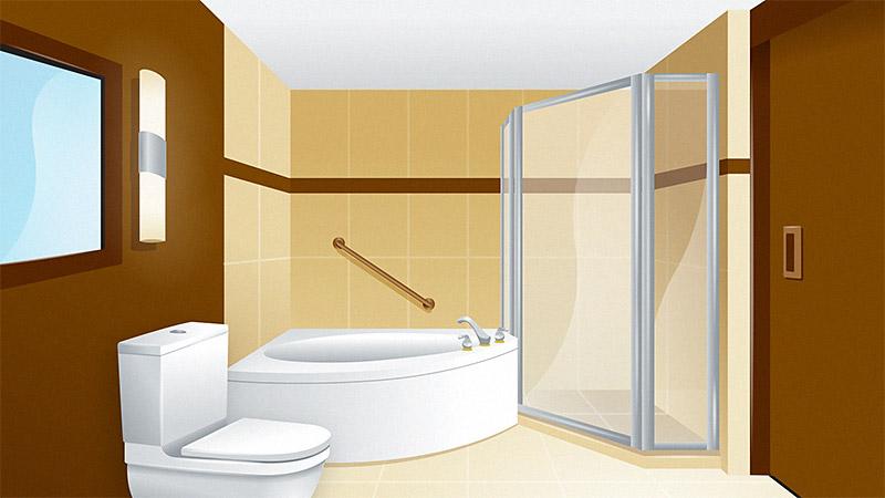 Starwood Resorts Bathroom Illustration