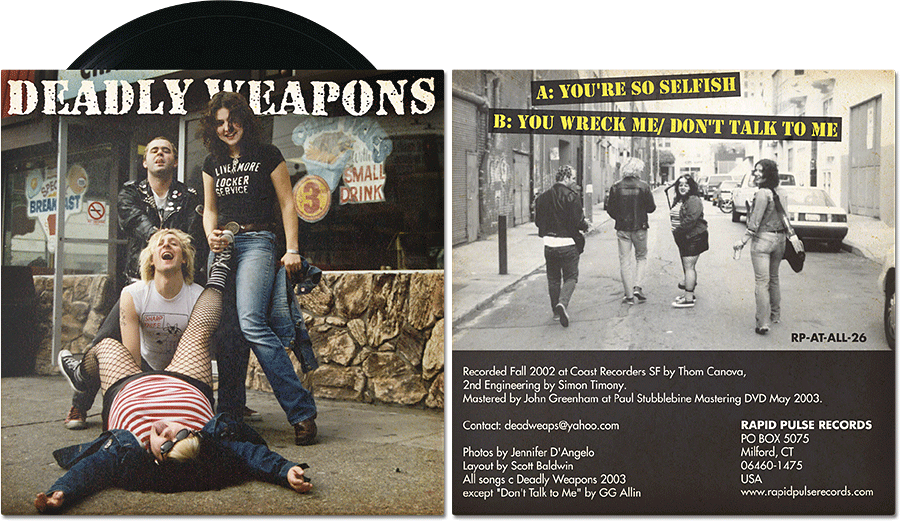 "Deadly Weapons • 7"" EP • Rapid Pulse Records"
