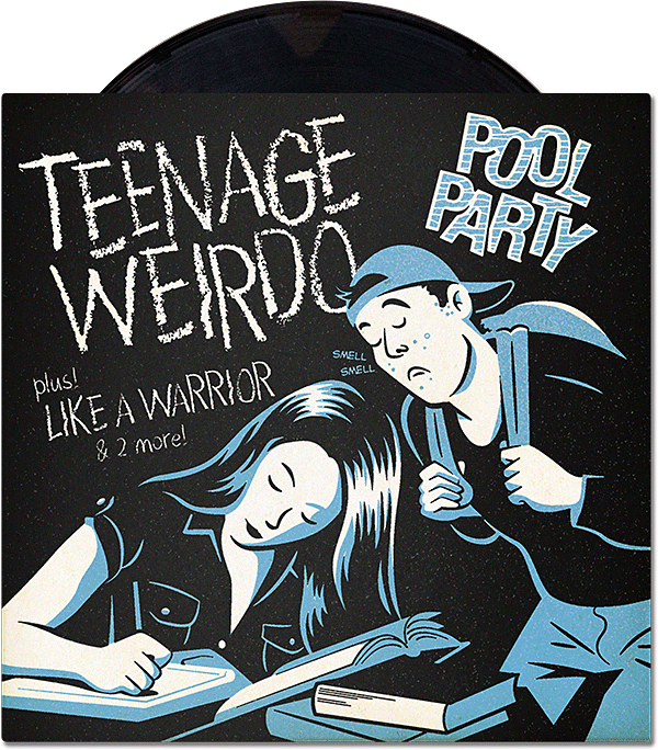 Pool Party Teenage Weirdo Record Cover