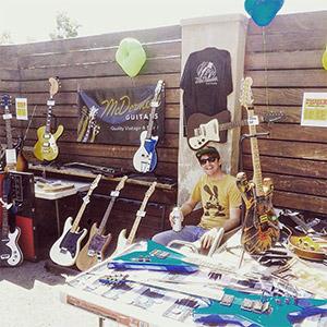 McDermott Guitars Sales Booth at Festival