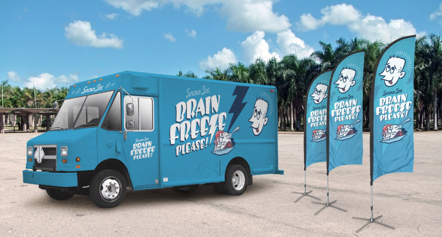 BFP Logo Vehicle Wrap and Feather Banners