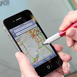 Hand Stylus in Use Cell Phone