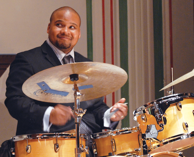 Sean Dobbins performs on the Black History Month Jazz Tribute. Photo ©Barbara Barefield
