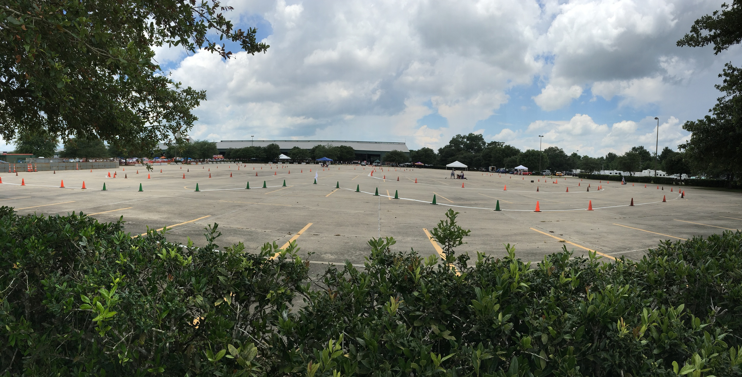 The Mother's Autocross track . . . . There's really just one rule: Don't hit the cones!