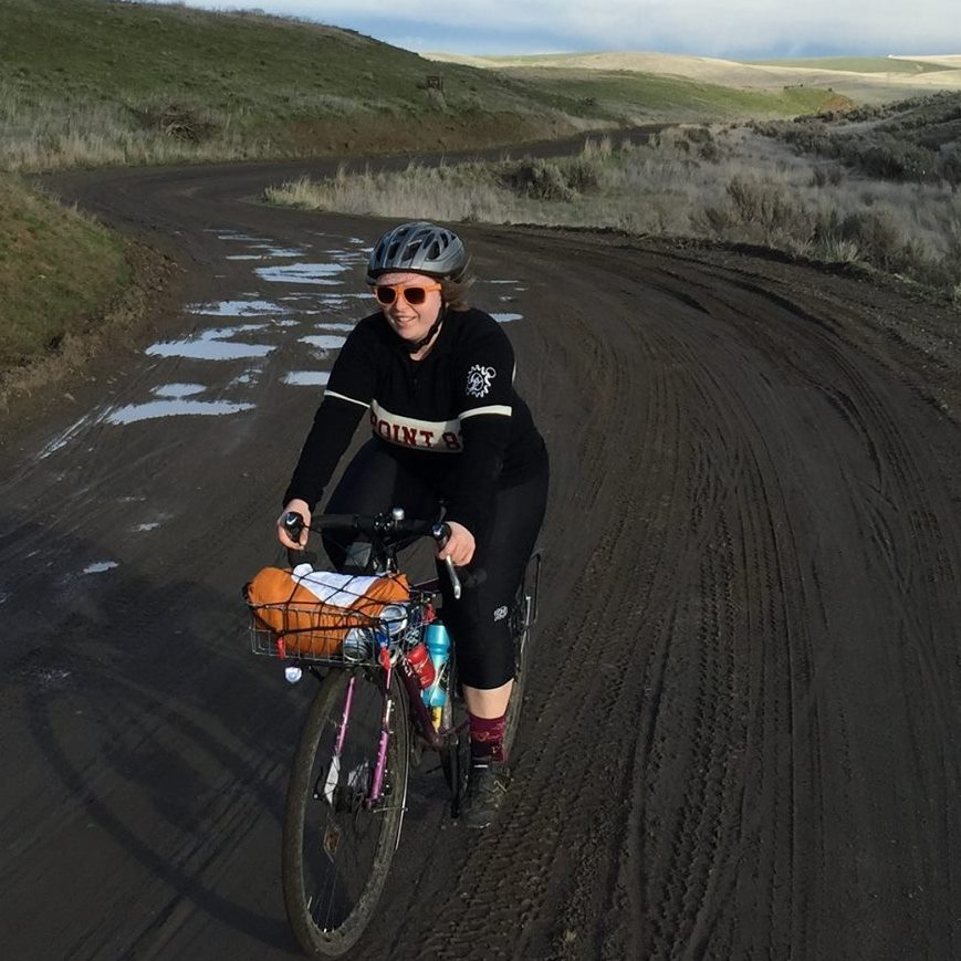 I'm smiling, but I hate this climb...Old Moody Road