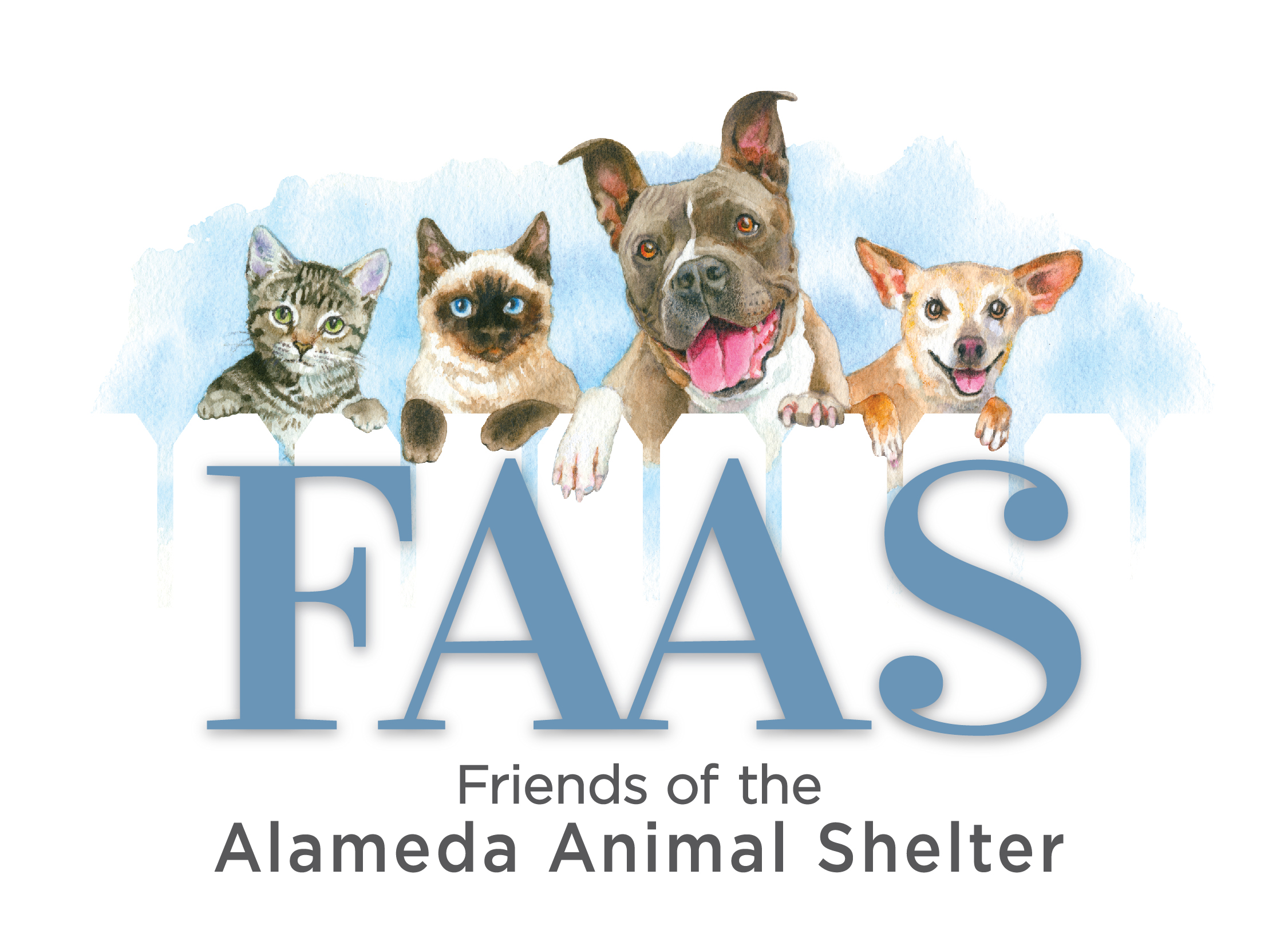 FAAS - Friends of the Alameda Animal Shelter (FAAS) mission is to shelter and care for abandoned companion animals, find them new homes, and prevent animal cruelty through education and community programs. FAAS is a 501(c)(3) organization.