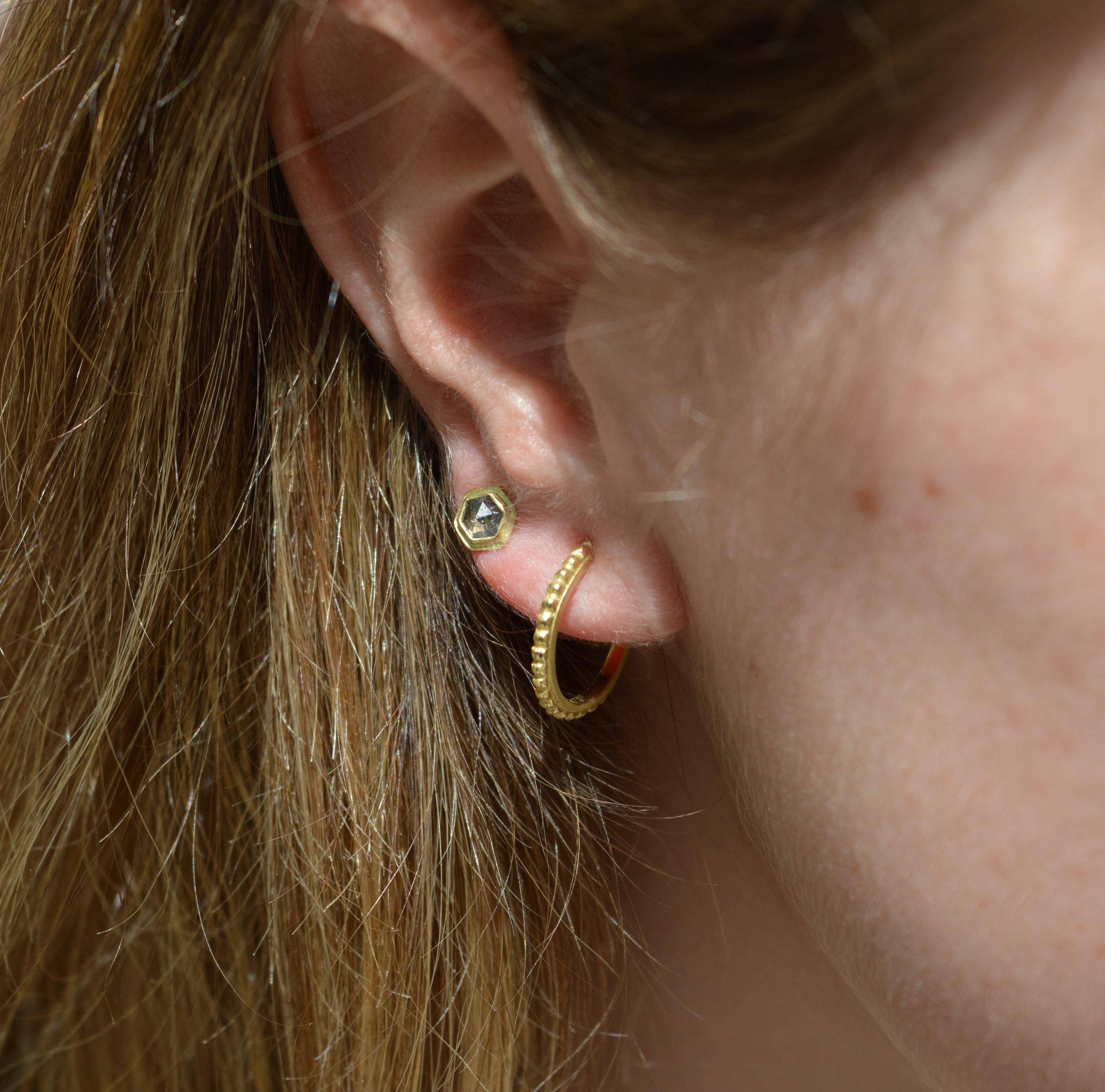 Diamond Gold Earring