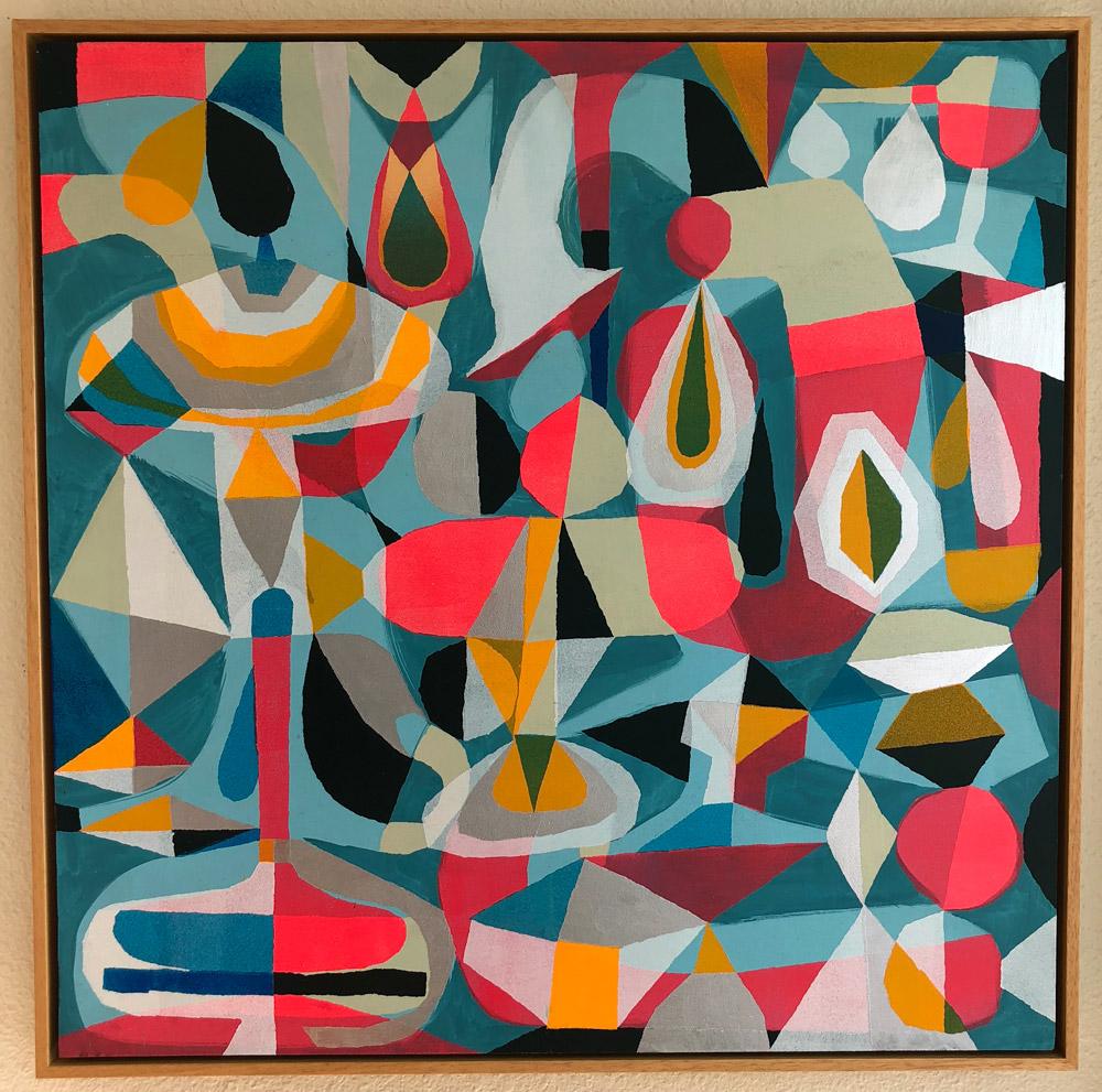 """Ocular Fountain  Acrylic on Panel  30"""" x 30""""  $10k"""