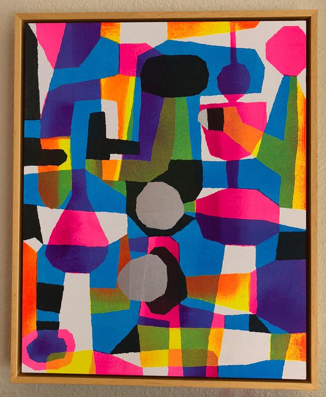 "Untitled 3  Acrylic on Panel  20"" x 16""  $3500"