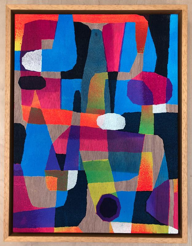 "Untitled 1  Acrylic on Panel  14"" x 11""  $2500"