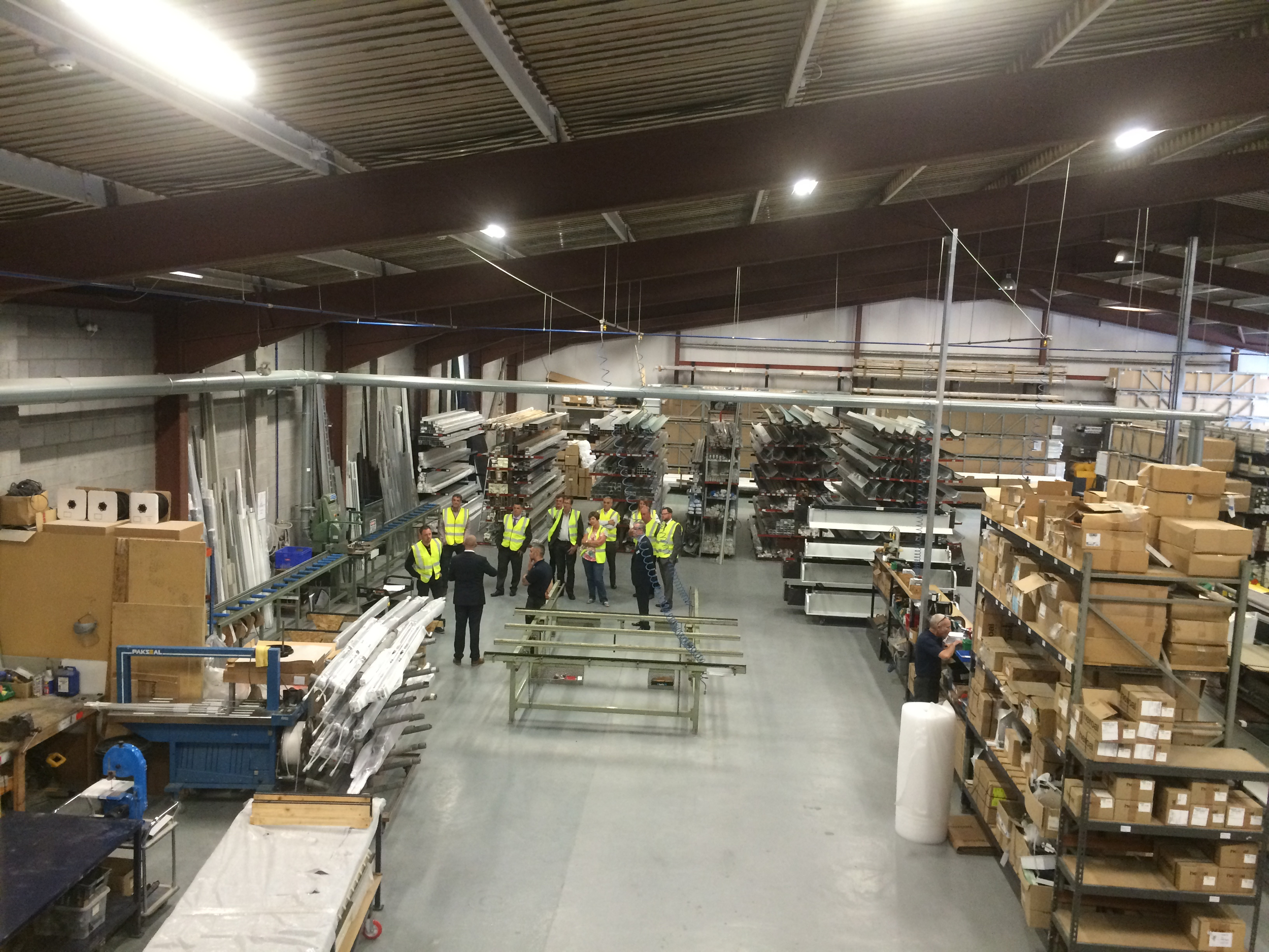 Guests having a tour of the Aluroll Aluminium Manufacturing Facility