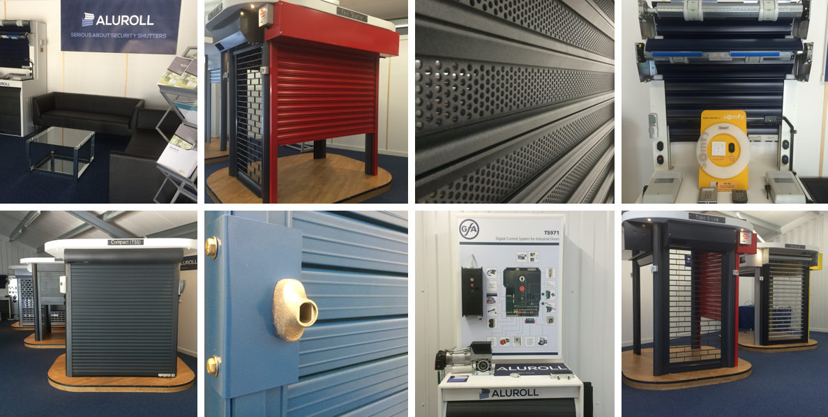 aluroll uk's largest roller garage door and security shutter showroom and training facility