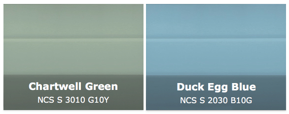 Chartwell Green and Duck Egg Blue