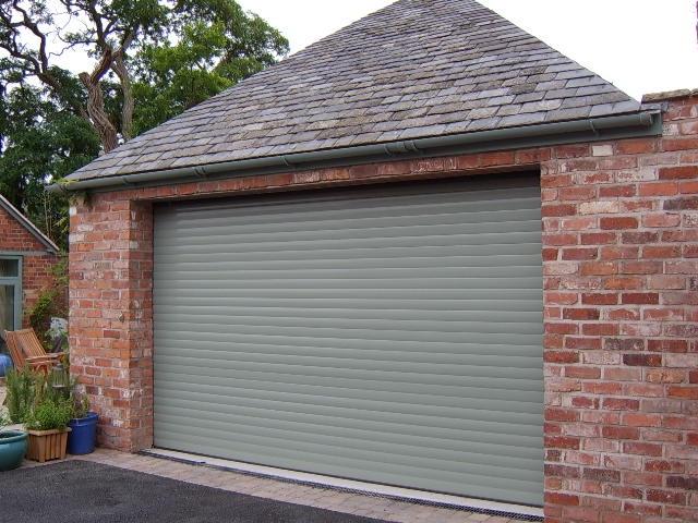 chartwell green garage door aluroll