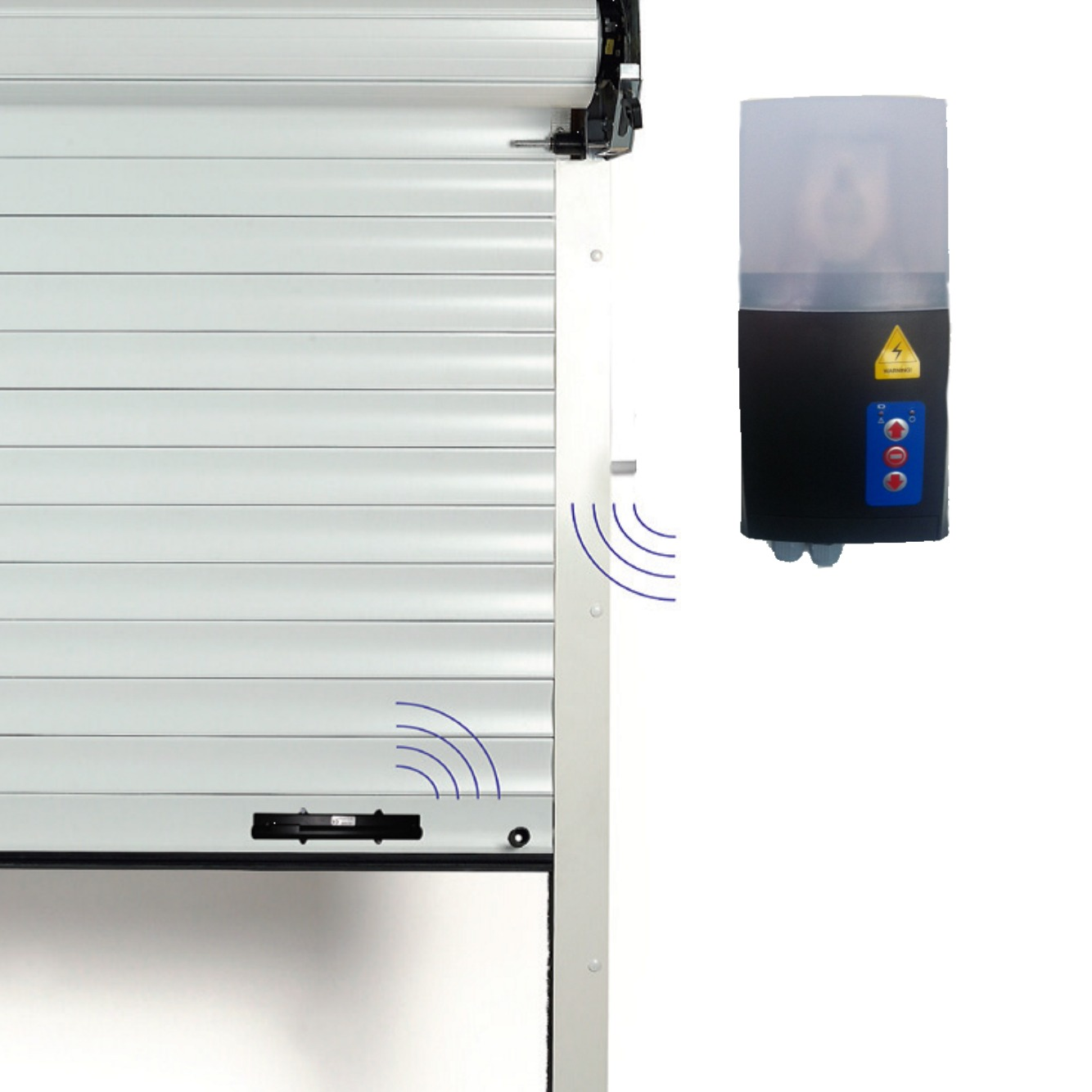 Control panel safety edge garage door