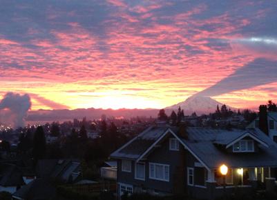 Tacoma cascades Sunset