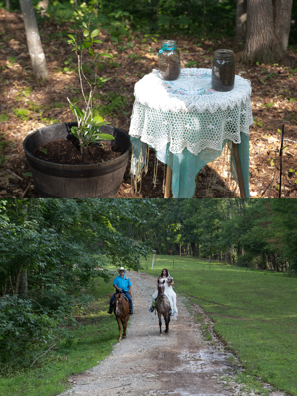 Cyndi is a horse lover and had to incorporate her two beautiful horsesinto her wedding, and it was awesome.