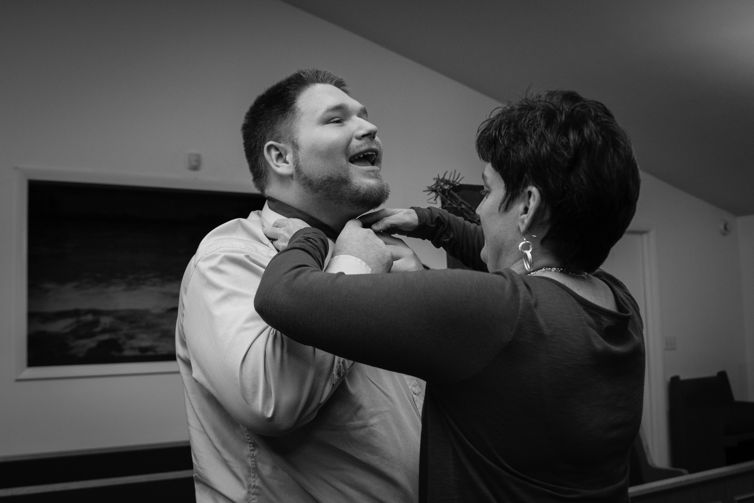 Poor Billy was so nervous he had to have Emilea's mom help put his bowtie on!!