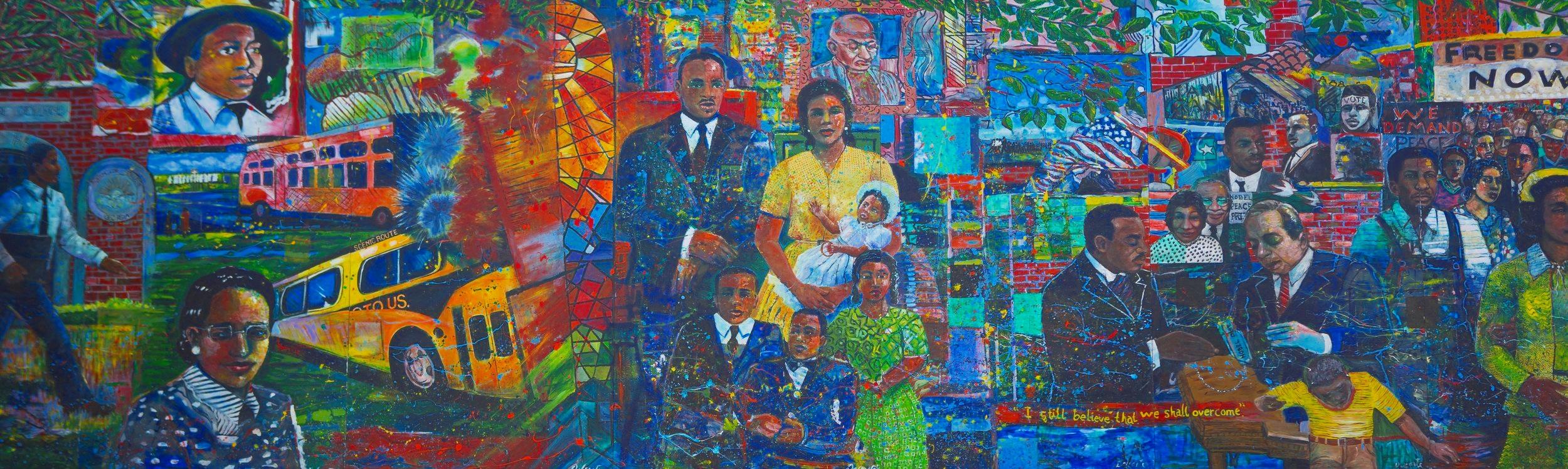 Civil Rights Mural, Atlanta, Georgia. Photo credit: Georgia USA