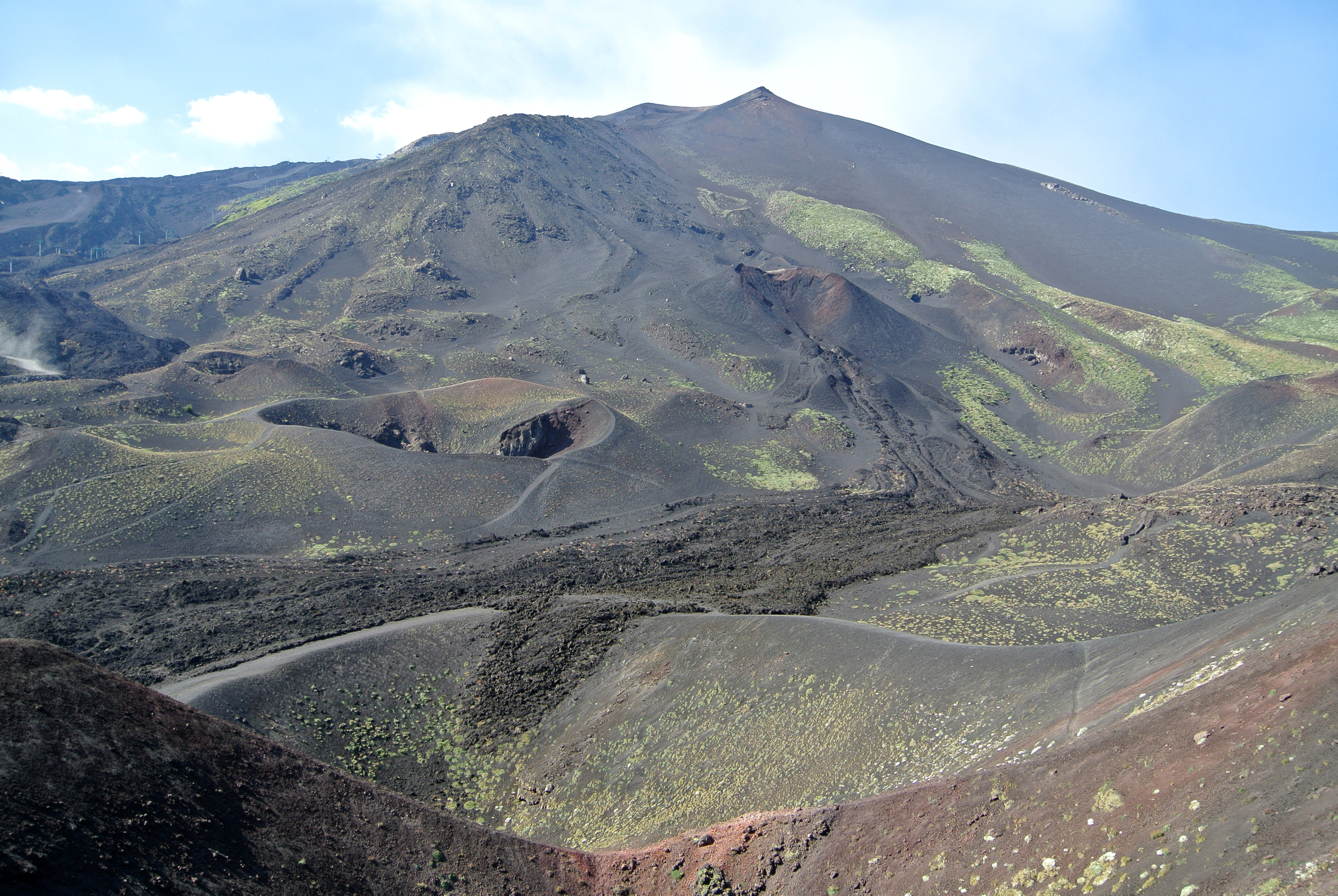 lava flows 2/3rds up Mt. Etna