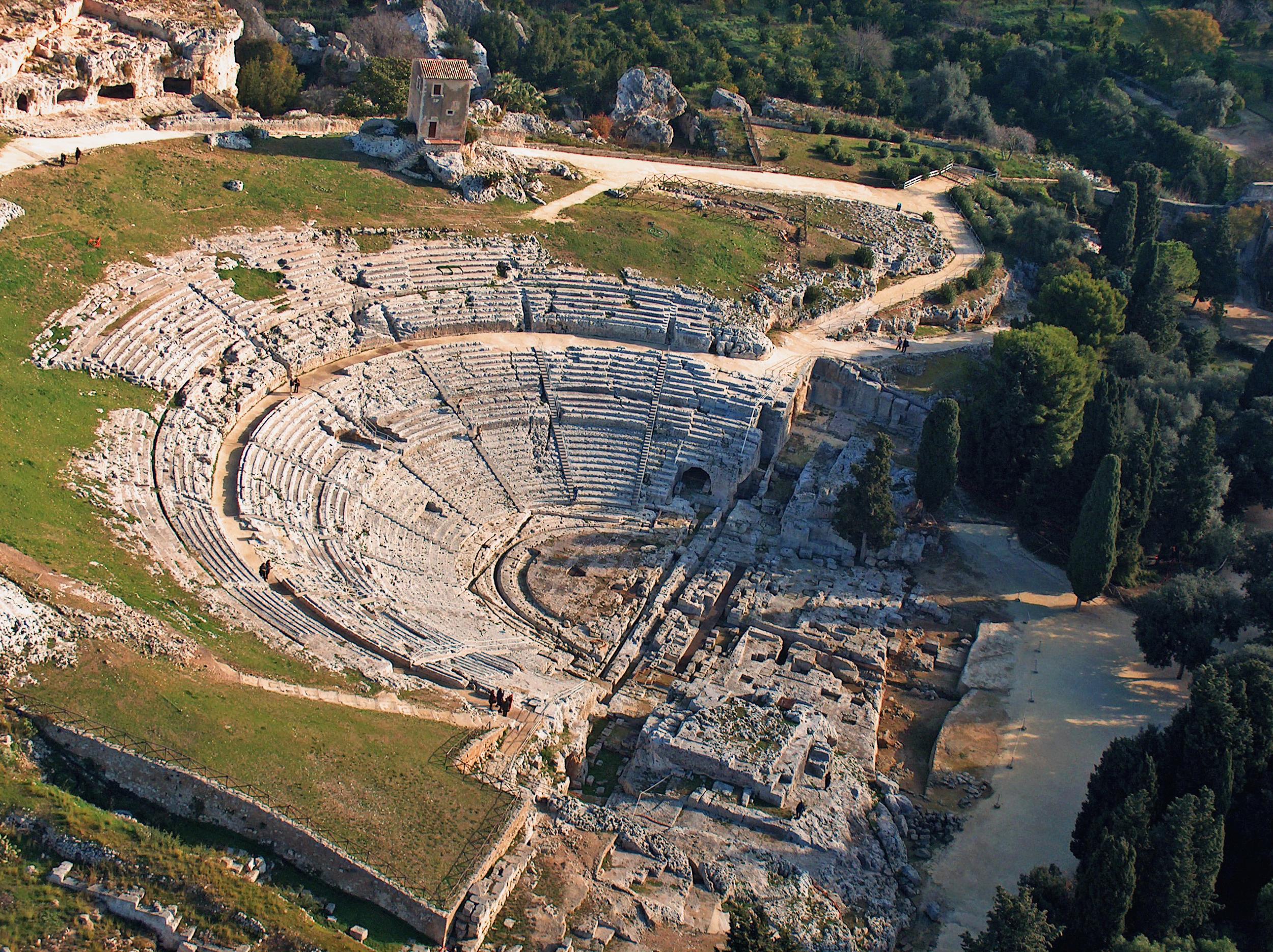 Greek Theatre, Siracusa (ancient Syracuse), 5-3C BCE Michele Ponzio CC BY-SA 2.0.jpg