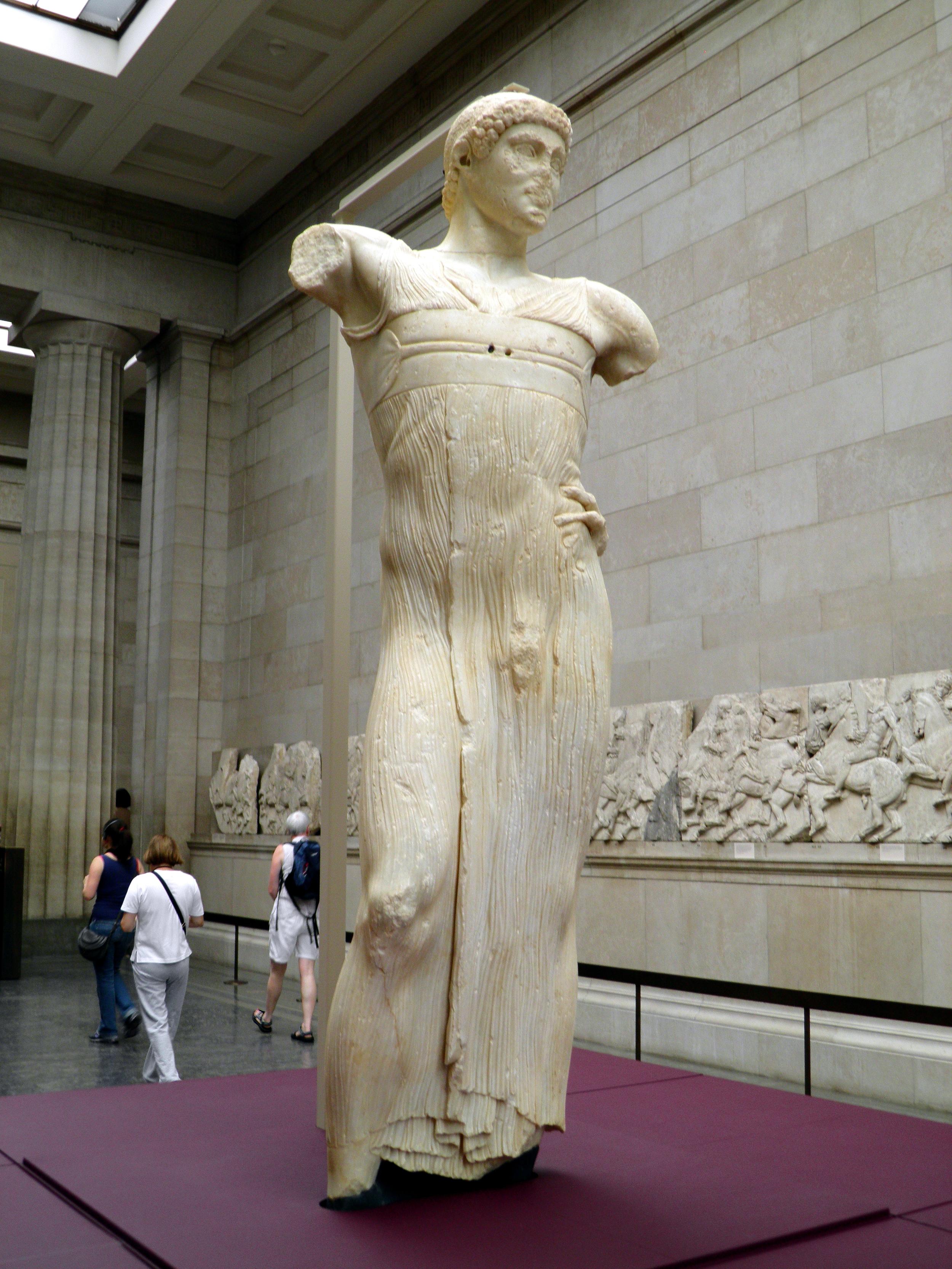 Charioteer of Mozia (Motya), 5C BCE, front view