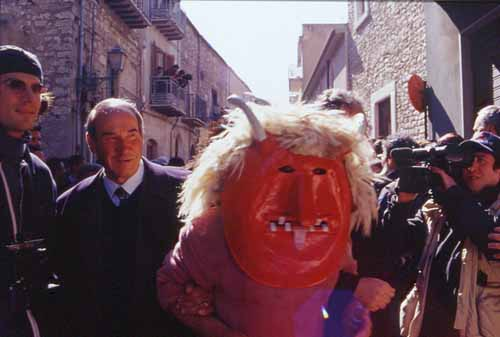 """The strange, pagan tradition of Easter """"devils"""", in the town of Prizzi, Palermo Province"""